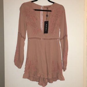 For Love and Lemons Dusty Pink Romper